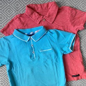 Andy & Evan and Hudson polo shirt set 3T